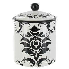 Black & White Damask Ceramic Sugar Container | Shop Hobby Lobby