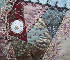I ❤ crazy quilting & embroidery . . .  January Page for CQJP2013 ~By Margreet deR., Netherlands
