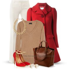 A fashion look from October 2013 featuring J.Crew sweaters, RED Valentino coats and Alexander McQueen pants. Browse and shop related looks.