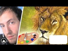 How to draw a LION! Speed Painting with REAL OIL COLOUR! 10 hours TIMELAPSE by Gianmaria Anderle