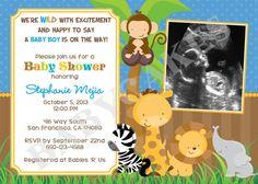 Safari baby shower invitation jungle shower invite giraffe safari jungle animals baby shower invitation by jcbabycakes filmwisefo