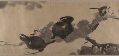 清 八大山人 (朱耷) 蓮塘戲禽圖 卷 Birds in a lotus pond Artist: Bada Shanren (Zhu Da) (Chinese, 1626–1705) Period: Qing dynasty (1644–1911) Date: ca. 1690