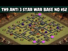 Clash of Clans | Town Hall 9 Anti 3 Star War Base | Layout 52