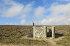 Gabion stone outhouse in Namaqualand National Park, South…  #Bach #Cabin Pinned by www.modlar.com