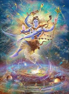 Lord Shiva in the cosmic dance of the Tandava.