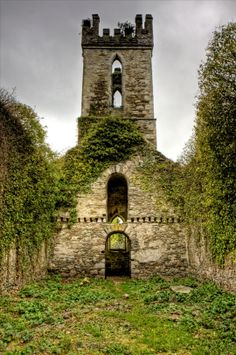 Ruins of 'Old' Castlemacadam Church outside Avoca - County Wicklow Ireland