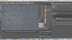 Cinema 4D Tutorial: Drops of water converge to text on Vimeo