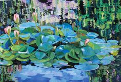 Monet in Pasadena by Melinda Bula. West Coast Wonders quilt exhibit, 2013 Houston IQF, photo by Quilt Inspiration Landscape Art Quilts, Landscapes, International Quilt Festival, The Quilt Show, Monet Paintings, Flower Quilts, Fall Quilts, Thread Painting, Textiles
