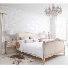 Delphine French Upholstered Bed | Luxury French Bed