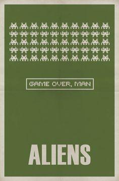 Aliens (1986) - Minimal Movie Poster by Matt Owen ~ #mattowen #minimalmovieposters #alternativemovieposters