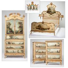 Bedroom Suites Online Style Painting this regency vanity with stool is inspireddesigns that