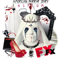 """American Horror Story: Asylum"" by ambervogue ❤ liked on Polyvore"
