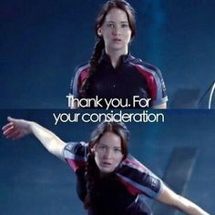 Katniss showed her Jennifer Lawrence side a little bit at this part in the movie... haha!