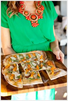 Pear and Apricot flatbread: Not-so-Ordinary Pizza Recipes curated by SavingStar. Get free grocery coupons at savingstar.com