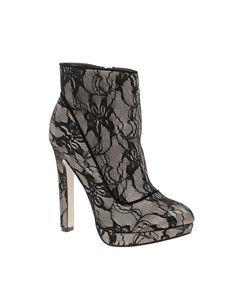 Miss KG Florrie Lace Platform Ankle Boots