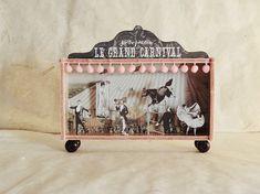 #circo #vintage en un #caja con ruedas