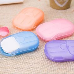 Disposable Soap Paper Clean Scented Slice Foaming Box Mini Paper Soap For Outdoor Travel Use Color Random Washing Soap, Hand Washing, Soap Boxes, Hand Care, Note Paper, Camping, Bar Soap, Outdoor Travel, Keep It Cleaner