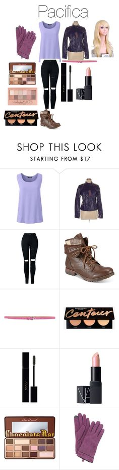 """""""Pacifica North-West from Disney's Gravity Falls"""" by tori-camilleri on Polyvore featuring Lands' End, ZiGiny, Hope Collection, Gucci, NARS Cosmetics, Too Faced Cosmetics, Maybelline, Adrienne Vittadini and WithChic"""