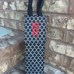 A monogrammed insulated wine tote was delivered to the birthday girl today!!!