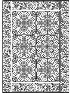 Decorative Tile Designs Coloring Book