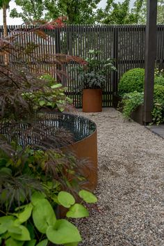 Almbacken garden design When old in idea, a pergola continues to be experiencing a bit Landscape Elements, Landscape Design, Garden Design, Contemporary Garden, Garden Fencing, Water Garden, Dream Garden, Garden Planning, Garden Projects