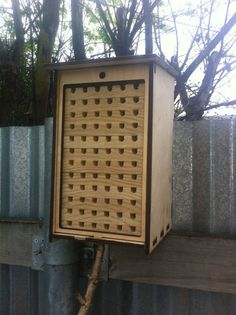 Tall Solitary Bee Nesting Box Kit by LaserBees on Etsy Dead Bees, Mason Bees, Cardboard Tubes, Spring Blooms, Wood Glue, Conservation, Habitats, Kit, Nature
