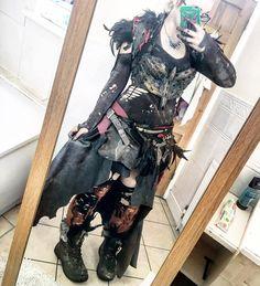 tribal Post apocalyptic larp costume female