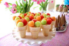 Ice cream fruit cups