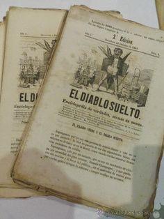 LOTE REVISTAS ANTIGUAS. EL DIABLO SUELTO. REVISTA SATIRICA. COLECCION DEL AÑO 1863-4