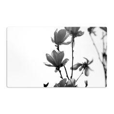 Kess InHouse Monika Strigel 'Mulan Magnolia' White Gray Artistic Magnet
