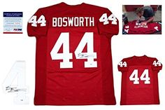 Cheap Brian Bosworth Signed Jersey - Custom w Photo - PSA/DNA Certified - Autographed College Jerseys Father day sale