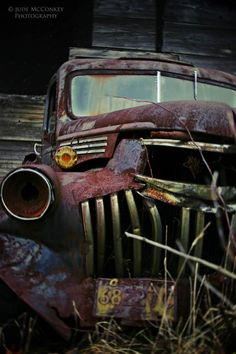 vintage car antique disrepair fine art by judeMcConkeyPhotos