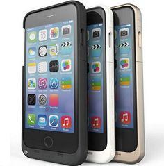 Why run out of battery? get a #juicepack and get extra 6 hours of talk time with this #iPhone6Plus battery case.