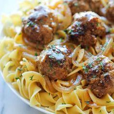 Salisbury Steak Meatballs Recipe - Damn Delicious & ZipList