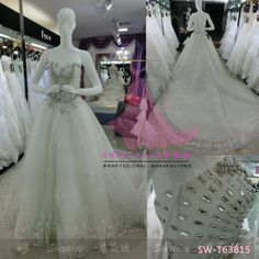 SW-T63815 Wedding Gown/ Wedding Dresses make by Sweetday wedding dress munufacture in guangzhou china sweetdaysmile@gmail.com