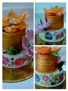 Handpainted wedding cake