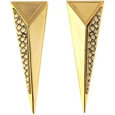 Pied a Terre Gold snake print spike clip earring ($16) found on Polyvore