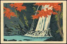 """Tokuriki, Tomikichiro """"Minoh Waterfall"""""""