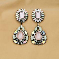 Adorable Colorful Artificial Gemstone Dangle Earrings $13.98