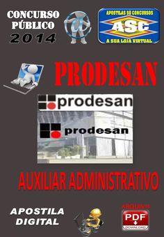 Apostila Concurso Publico Prodesan Auxiliar Administrativo 2014