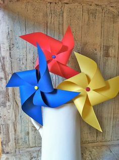 Pinwheels - Curious George Party - Vintage Circus Party - Party Favor - Birthday Decoration. $17.70, via Etsy.