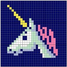 Crochet is Magic: 10 Free Crochet Unicorn Patterns! Unicorn Tile by Angela Davis, on Ravelry: This versatile graph can be used two ways – have the sq Crochet Unicorn Blanket, Crochet Unicorn Pattern Free, Unicorn Cross Stitch Pattern, Free Crochet, Cross Stitch Patterns, Crochet Granny, Free Pattern, Crochet Squares, Knitting Charts