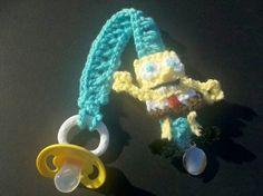 Sponge bob pacifier holder