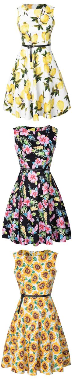 Free Shipping & Easy Return + Refund! Take this sheer piece and flow nice all the time! This a-line dress is detailed with bright color floral printing & comfy fit design! Try this at Cupshe.com