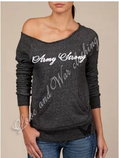 Womans Love and War Army Strong Eco Military by LoveandWarclothing, $46.00