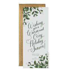 Fresh Mistletoe Custom Holiday Flat Note