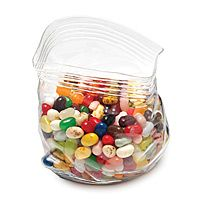 Unzipped glass zipper bag, great for filling with Jelly Bellies, M&Ms or any other favorite candy...What a great gift idea!