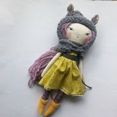 gorgeous handmade doll. humble toys.