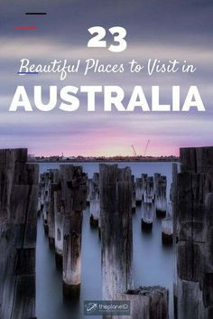 23 of the most iconic places in Australia. See the must visit Sydney Opera House and take a day trip from Melbourne to the Twelve Apostles in Victoria. Maria Island in Tasmania features stunning photo Visit Australia, Australia Travel, Western Australia, Queensland Australia, Cairns, Beautiful Places To Visit, Cool Places To Visit, Australia Destinations, Attraction