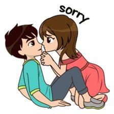 New funny emoji drawings ideas Cute Love Stories, Cute Love Gif, Cute Love Pictures, Cute Love Couple, Cute Love Quotes, Funny Love, Couple Pictures, Love Cartoon Couple, Cute Cartoon Pictures